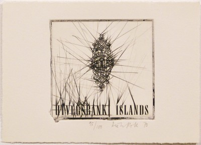"""Uvigs Bank Islands (from """"Eighteen Small Prints"""") by Dieter Roth"""