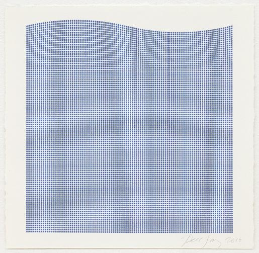 Tess Jaray, Untitled (Blue Wave), 2010