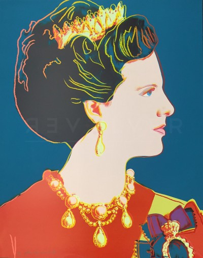Queen Margrethe (FS II.343) by Andy Warhol