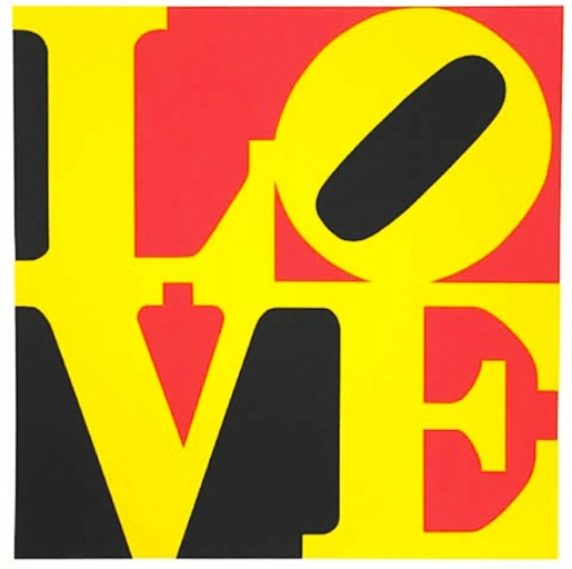 Robert Indiana, Love #9, from the Book Of Love, 1996