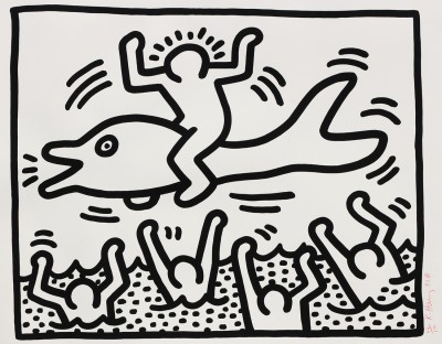 Keith Haring-Untitled (Man On A Dolphin)