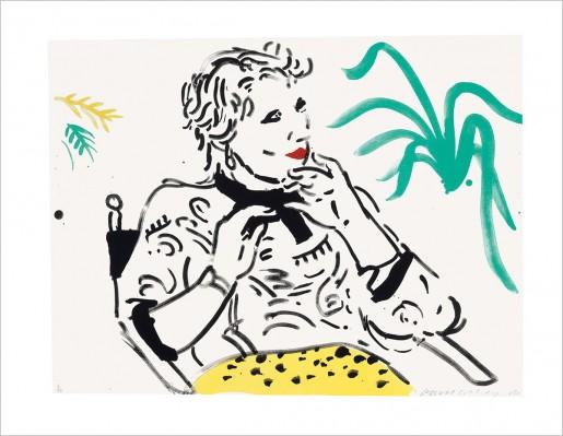 David Hockney, Celia with Green Plant, 1981