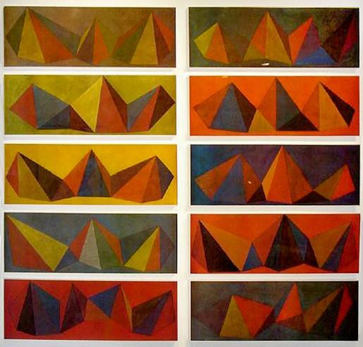 Sol LeWitt, 10 Pyramids, 1986