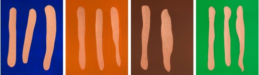 Günther Förg, Mr Blue, Mr Orange, Mr Brown, Mr Green, 2002