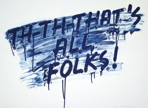 Mel Bochner, That's All Folks!, 2014