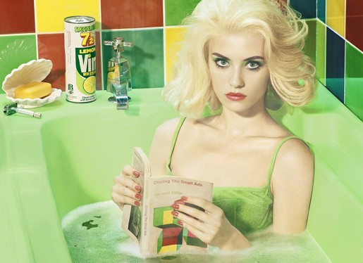 Miles Aldridge, Circling The Small Ads (after Miller), 2017