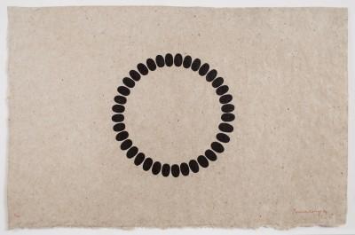 Untitled (B-horizontal) by Richard Long