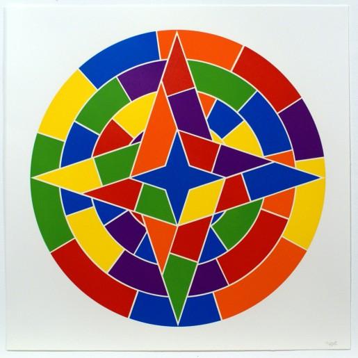 Sol LeWitt, Tondo 2 (4 point star), 2002