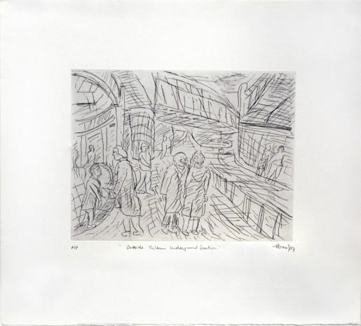 Leon Kossoff, Outside Kilburn Underground Station, 1983