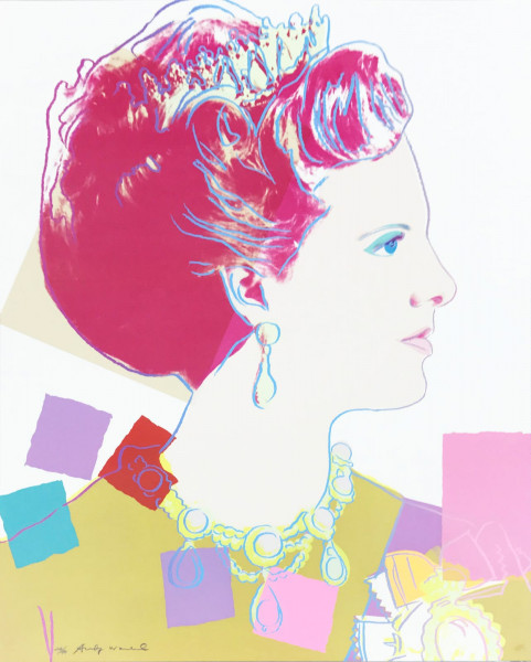 "Andy Warhol, Queen Margrethe II of Denmark (FS II.344), from the Portfolio ""Reigning Queens"", 1985"