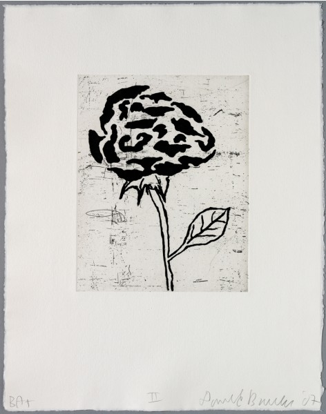 Donald Baechler, Five flowers II, 2007