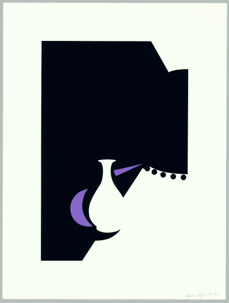Patrick Caulfield, Lung Ch'uan Ware and Black Lamp, 1990