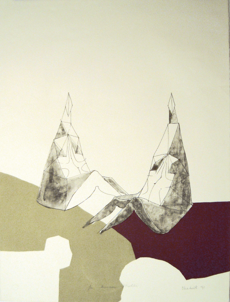 Lynn Chadwick, Two Seated Figures, 1971