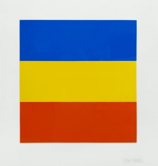 Ellsworth Kelly, Blue Yellow Red, 1970-73