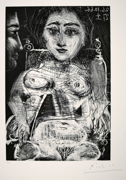 Pablo Picasso, Femme assise dans un fauteuil (Portrait de Jacqueline au fauteuil), 1966
