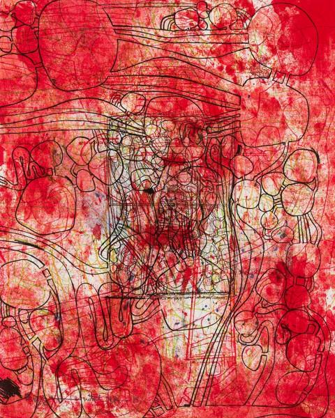 Hermann Nitsch, Die Architektur des orgien Mysterien II -  4, 1984