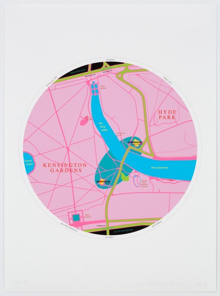 Michael Craig-Martin, Map, 2013