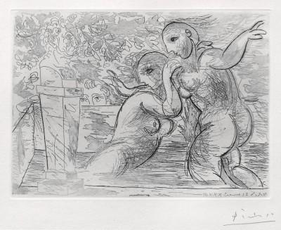 Pablo Picasso, The Surprised Bathing Women | Les Baigneuses Surprises, from: La Suite Vollard, 1933