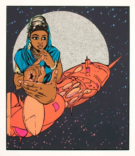 Chitra Ganesh, Architects of the Future - The Fortuneteller, 2014
