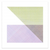 Square with a Different Color in Each Half Square (Divided Horizontally and Vertically), Plate #05