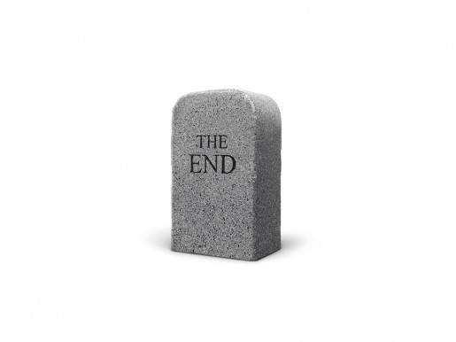 Maurizio Cattelan, The End (granite), 2016