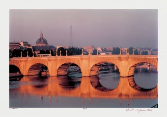 The Pont Neuf Wrapped, Paris by Christo & Jeanne-Claude