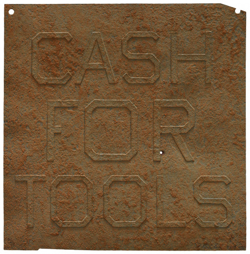 Ed Ruscha, Rusty Signs - Cash for Tools 1, 2014