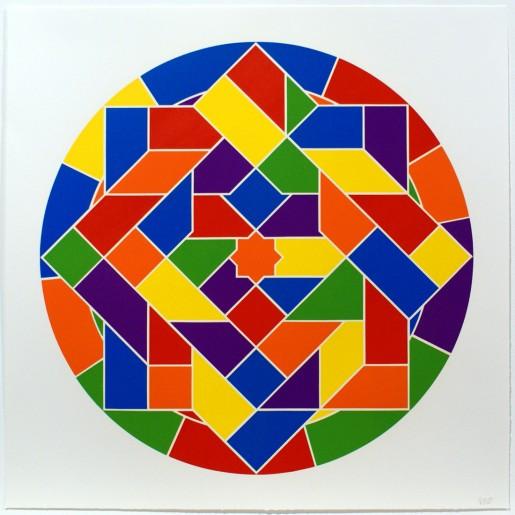 Sol LeWitt, Tondo 6 (8 point star), 2002
