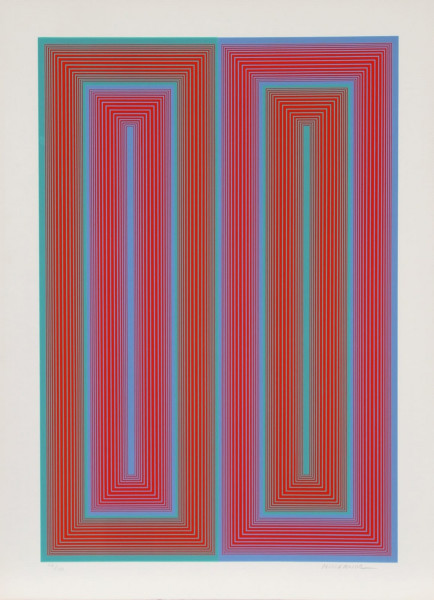 Richard Anuszkiewicz, Untitled from the Peace Portfolio, 1972
