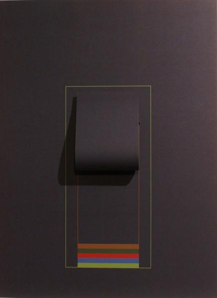 Robyn Denny, Mirrors (dark blue), 1974