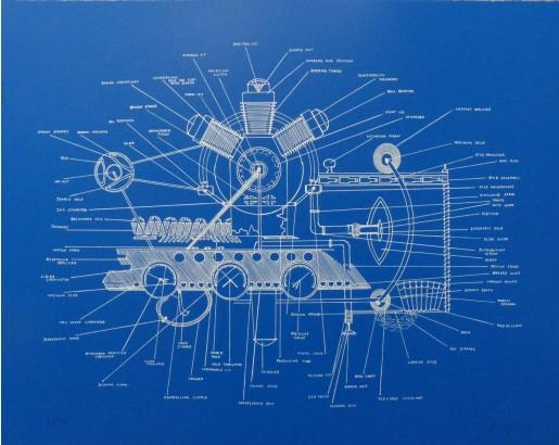 Agnes Denes, Liberated Sex Machine - Blue, 2013