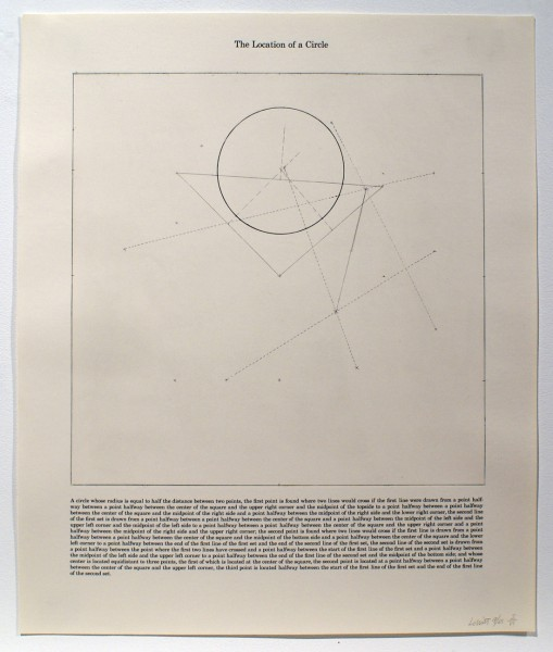Sol LeWitt, The Location of a Circle, 1975