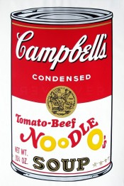 "Tomato-Beef Noodle O's (FS II.61), from the Portfolio ""Campbell's Soup II"""