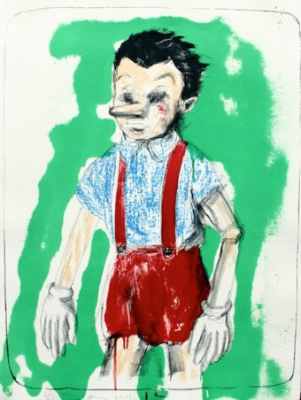 Pinocchio coming from the Green by Jim Dine