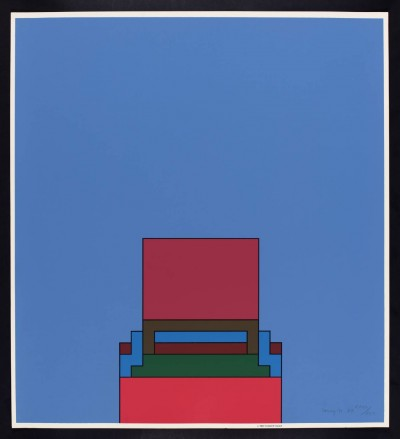 Robyn Denny, The Heavenly Suite (blue), 1971