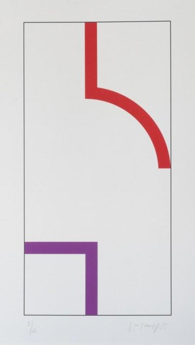 Sans Titre (Rouge/Violet) by Gottfried Honegger