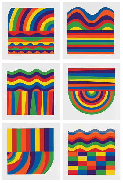 Sol LeWitt, Arcs and Bands in Color, 2000