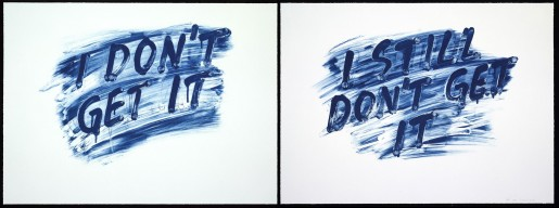 Mel Bochner, I Don't Get It / I Still Don't Get It, 2014