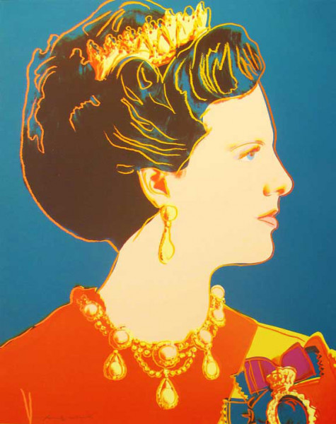 "Andy Warhol, Queen Margrethe II of Denmark (FS II.343), from the Portfolio ""Reigning Queens"", 1985"
