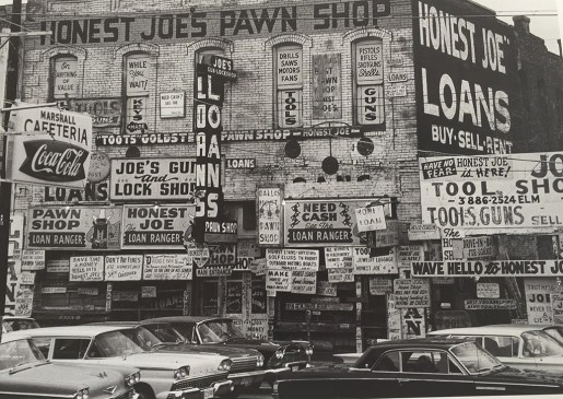 Thomas Hoepker, Honest Joe's Pawn Broker's Shop, Dallas, Texas, 1963