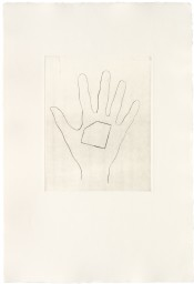 My Left Hand Holding a Square Shaped Piece of Paper with the Top Left Hand Corner Removed / with the Bottom Right Hand Corner Removed / with the Top Right Hand Corner Removed / with the Bottom Left Hand Corner Removed