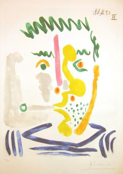 Pablo Picasso, Fumeur, 1964