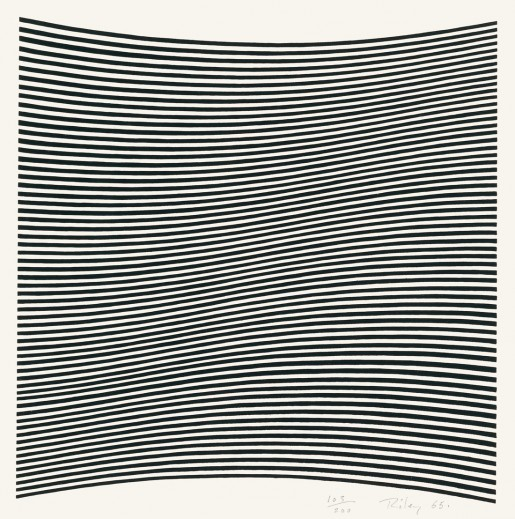 Bridget Riley, Untitled (La Lune en Rodage - Carlo Belloli), 1965