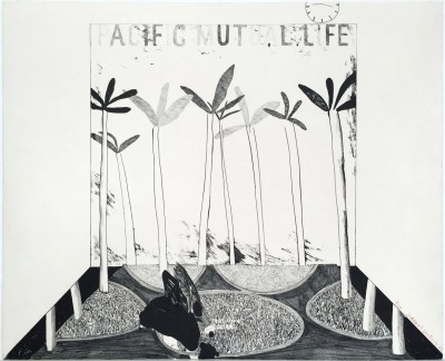 Pacific Mutual Life  by David Hockney