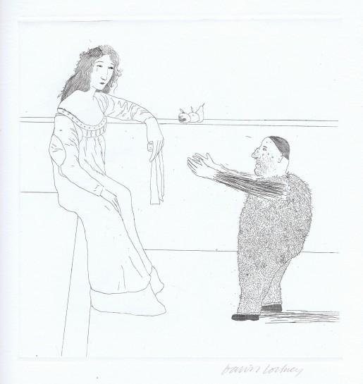 David Hockney, Pleading for the Child (Rumpelstilzchen), 1969