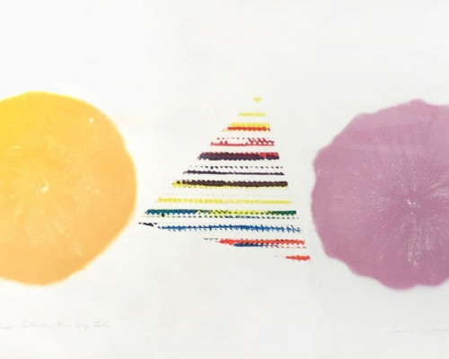 Pyramid Between Two Dry Lakes by James Rosenquist