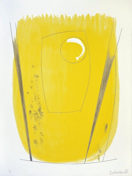 """Barbara Hepworth, Two Opposing Forms, from the Portfolio """"Opposing Forms"""", 1970"""