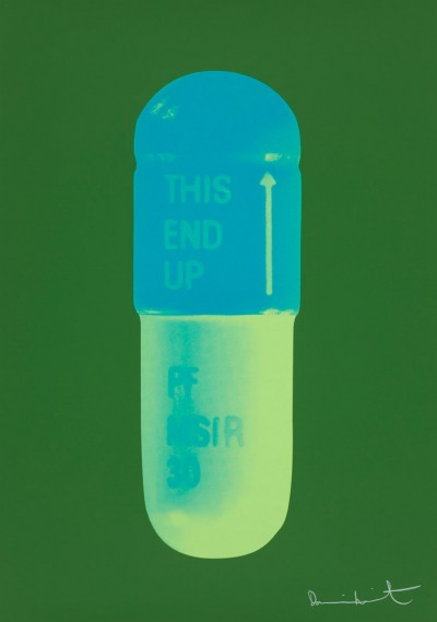 The Cure - Forest Green/Turquoise/Acid Green by Damien Hirst
