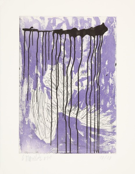 Georg Baselitz, Fortuna (Farbvariante in Violett), 2010/2011