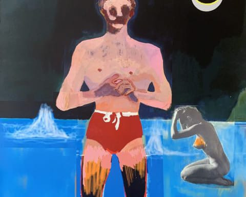 Bather by Peter Doig